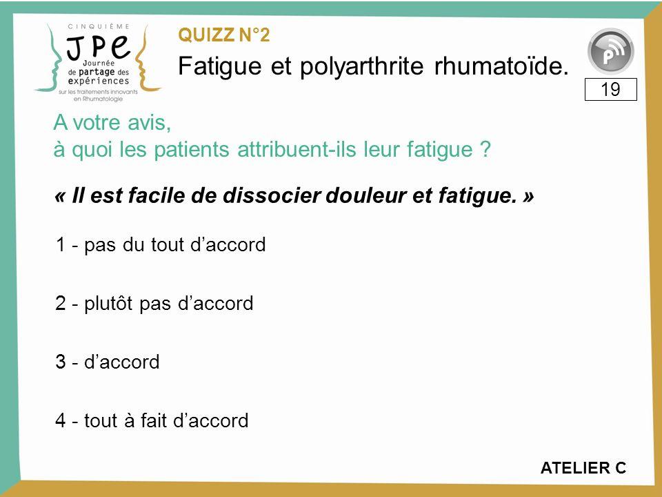 « Il est facile de dissocier douleur et fatigue. »