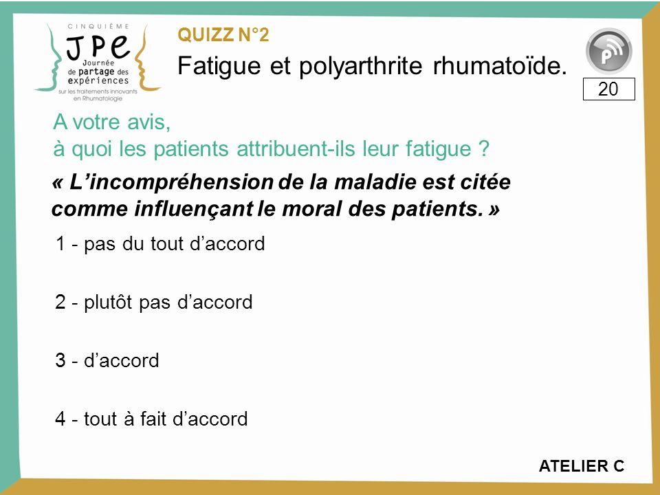 Fatigue et polyarthrite rhumatoïde.