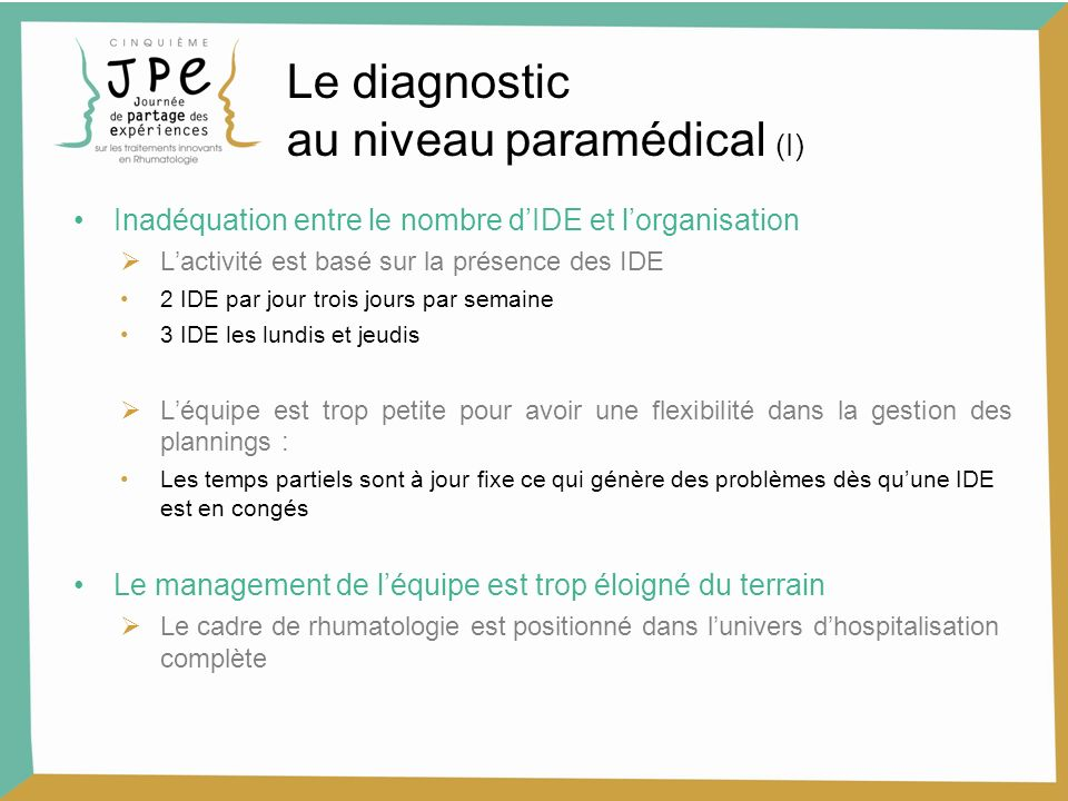 Le diagnostic au niveau paramédical (I)