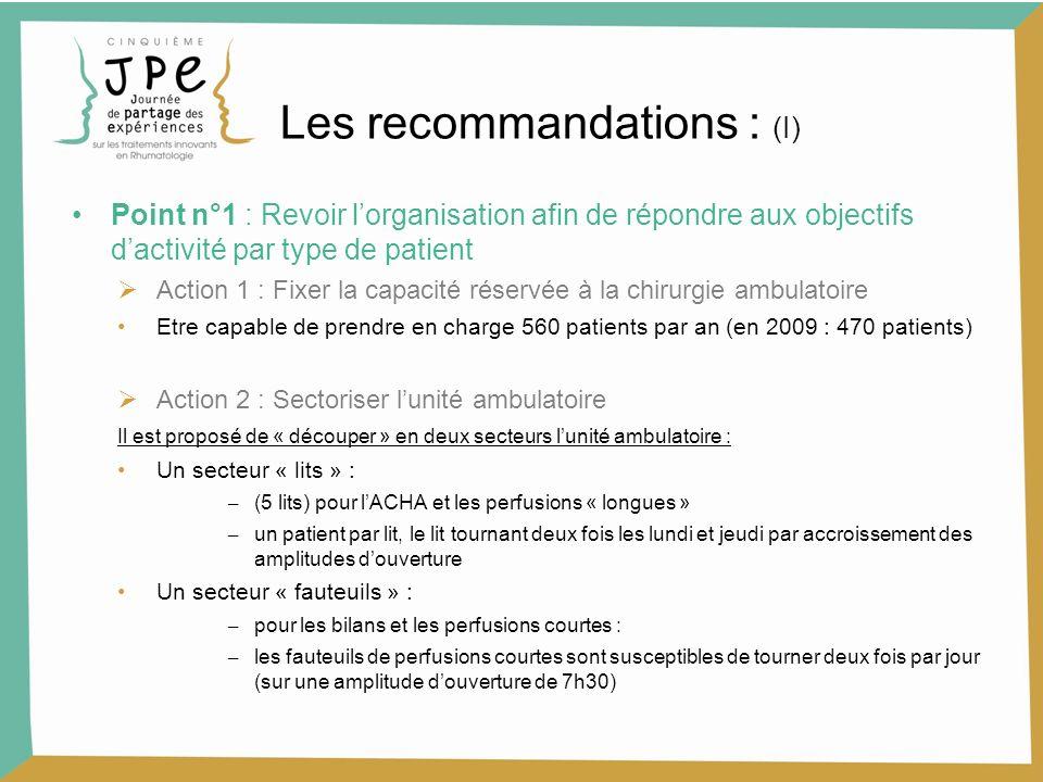 Les recommandations : (I)