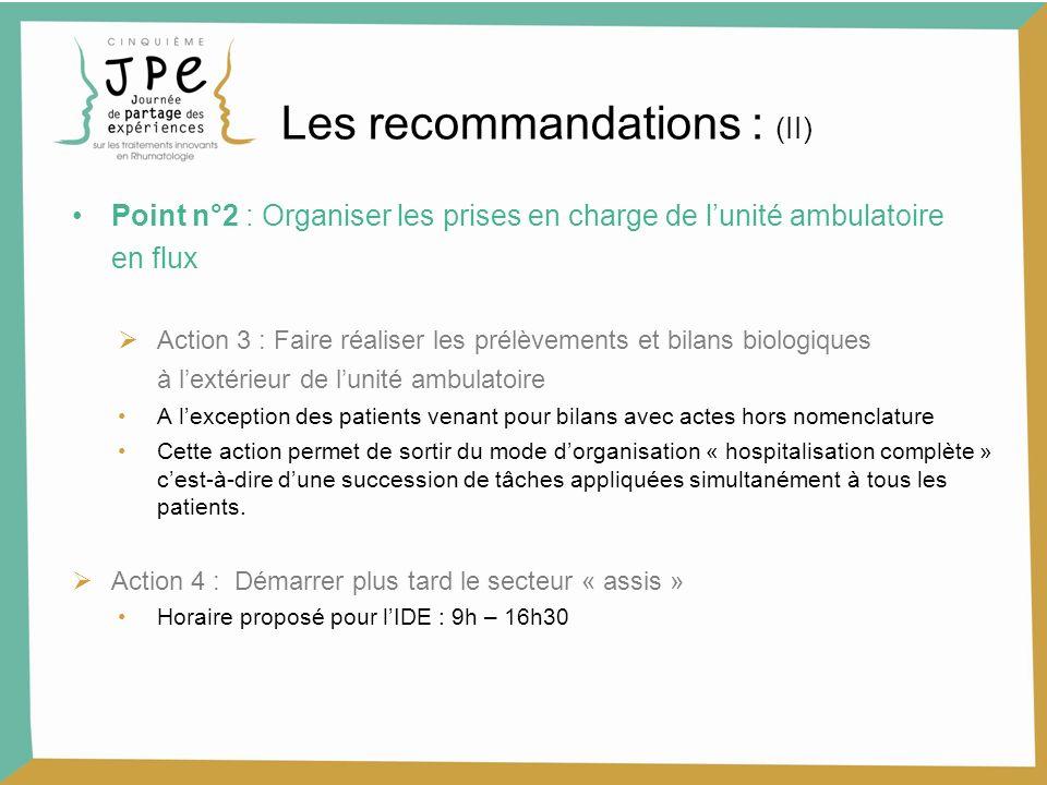Les recommandations : (II)