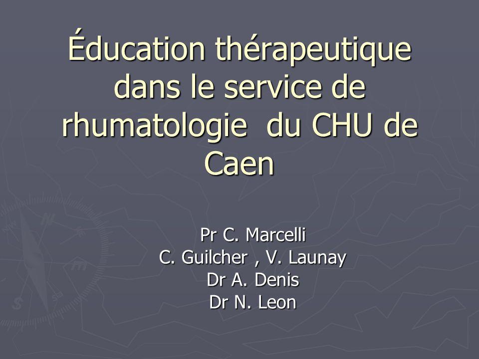 Éducation thérapeutique dans le service de rhumatologie du CHU de Caen