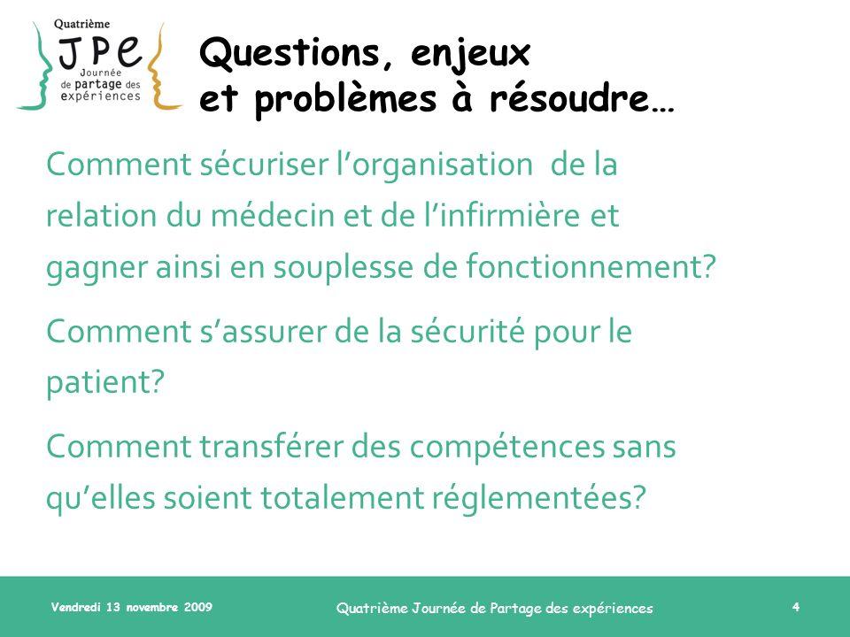 Questions, enjeux et problèmes à résoudre…