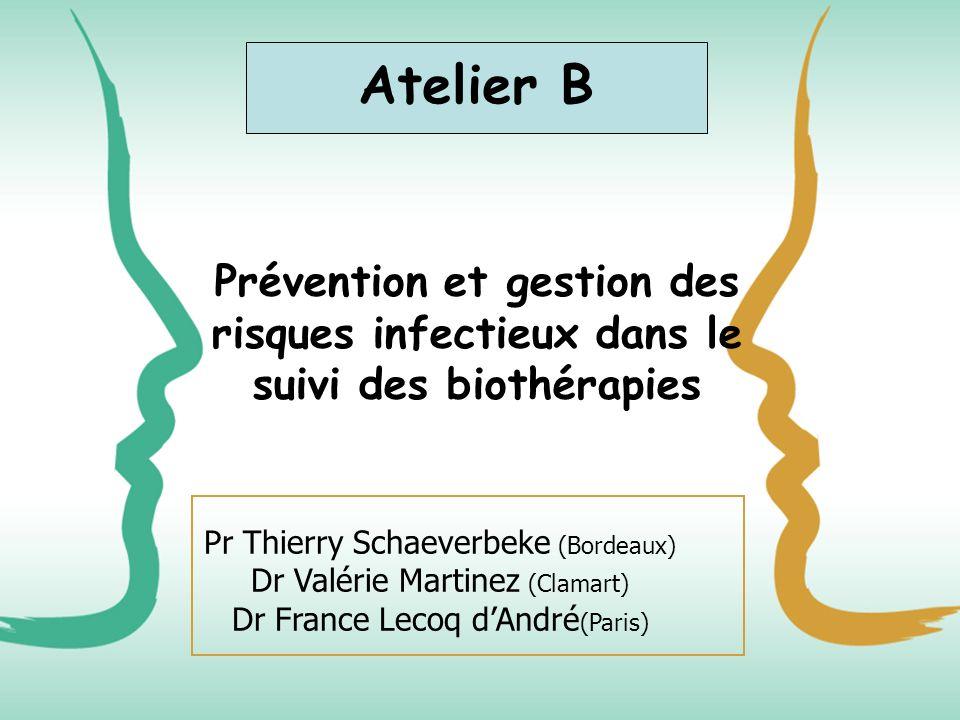 Atelier BPrévention et gestion des risques infectieux dans le suivi des biothérapies.