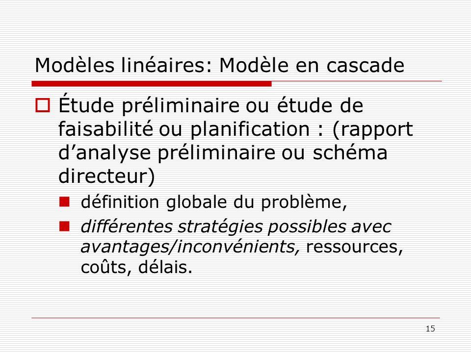 Modèles linéaires: Modèle en cascade