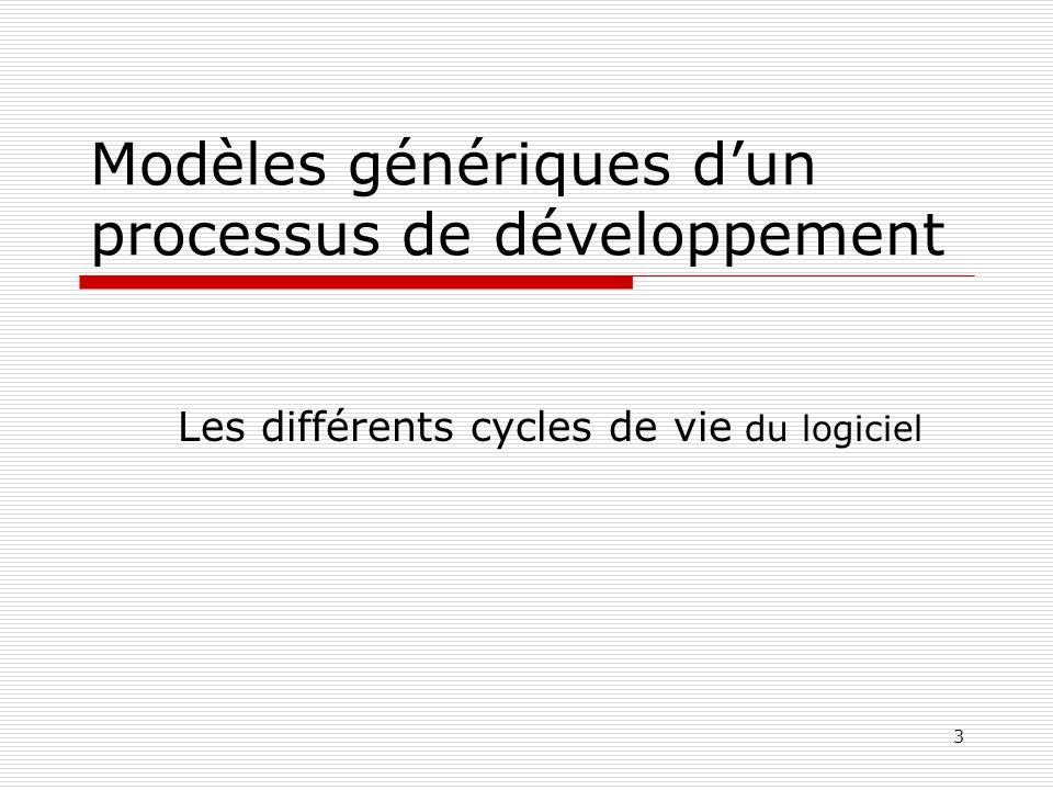 Modèles génériques d'un processus de développement