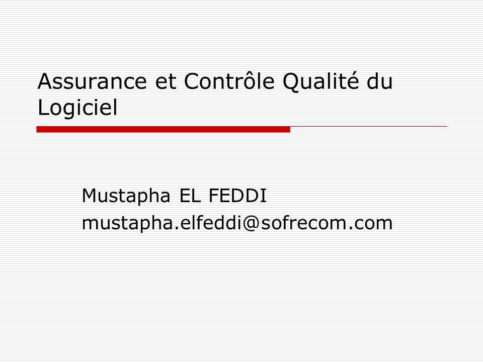 Assurance et Contrôle Qualité du Logiciel