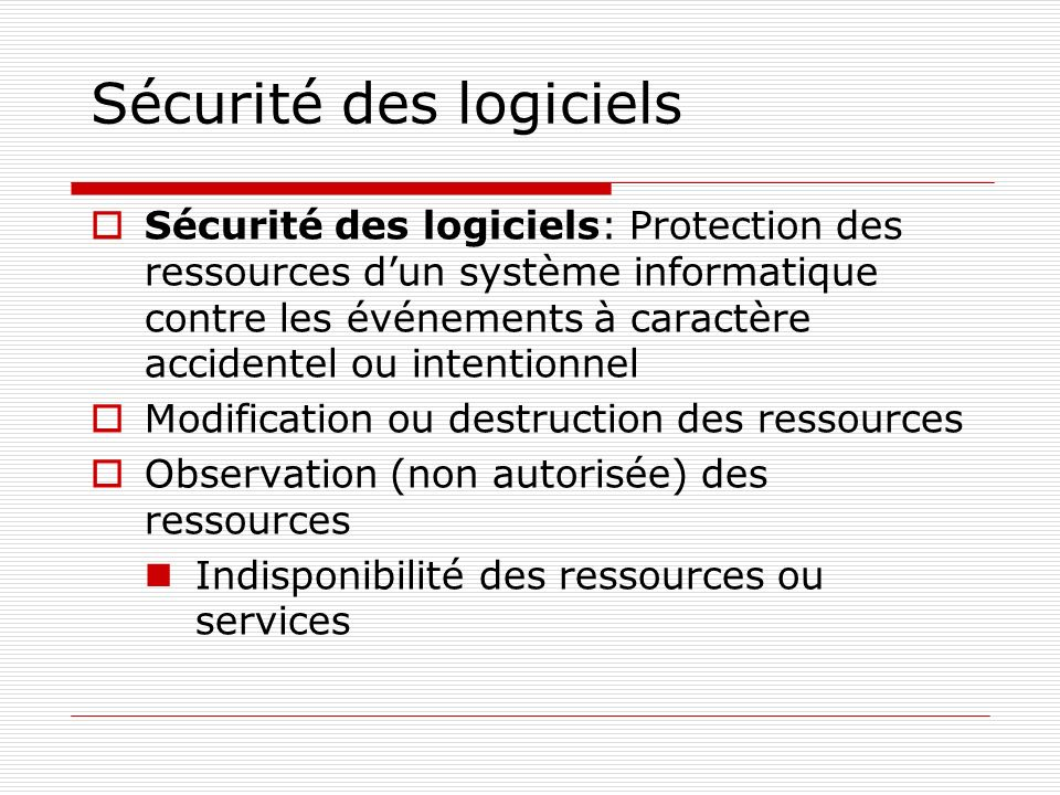 Sécurité des logiciels