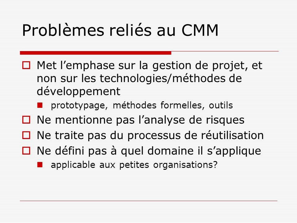 Problèmes reliés au CMM