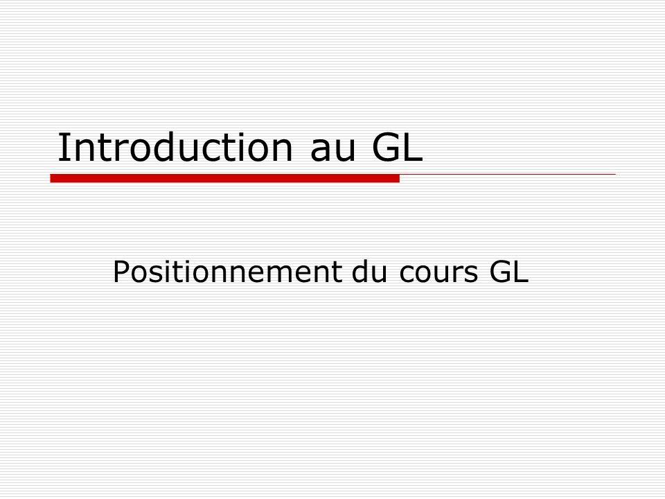 Positionnement du cours GL