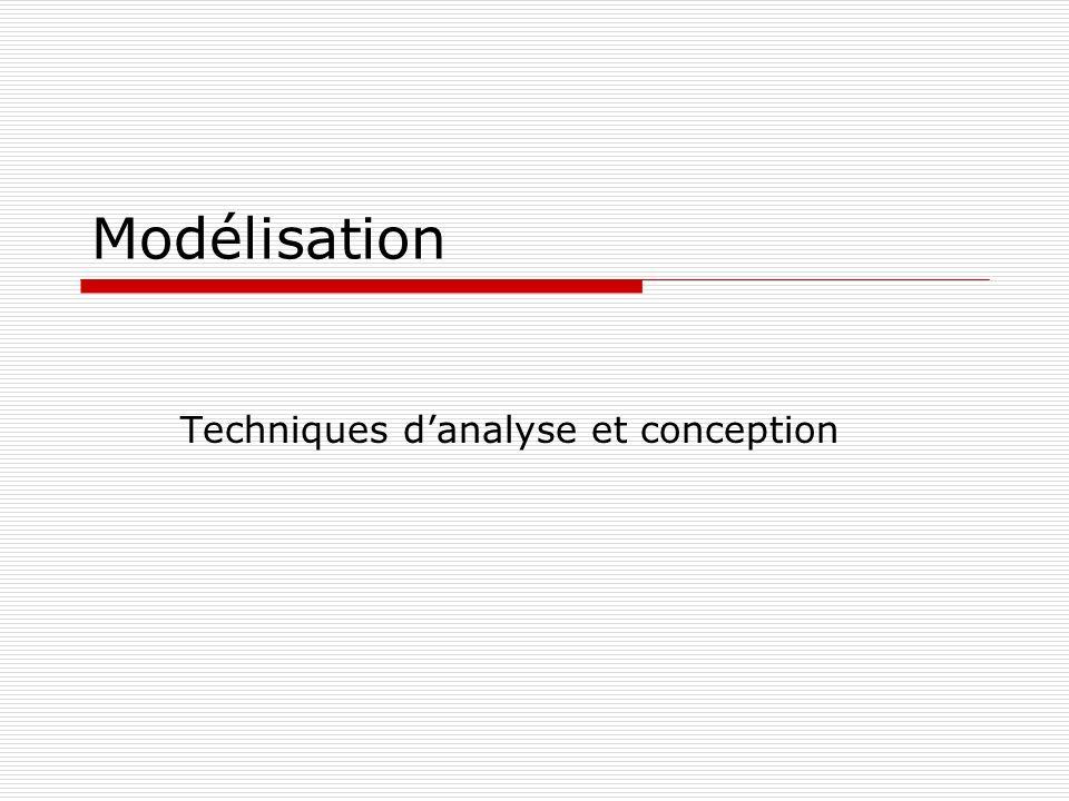 Techniques d'analyse et conception