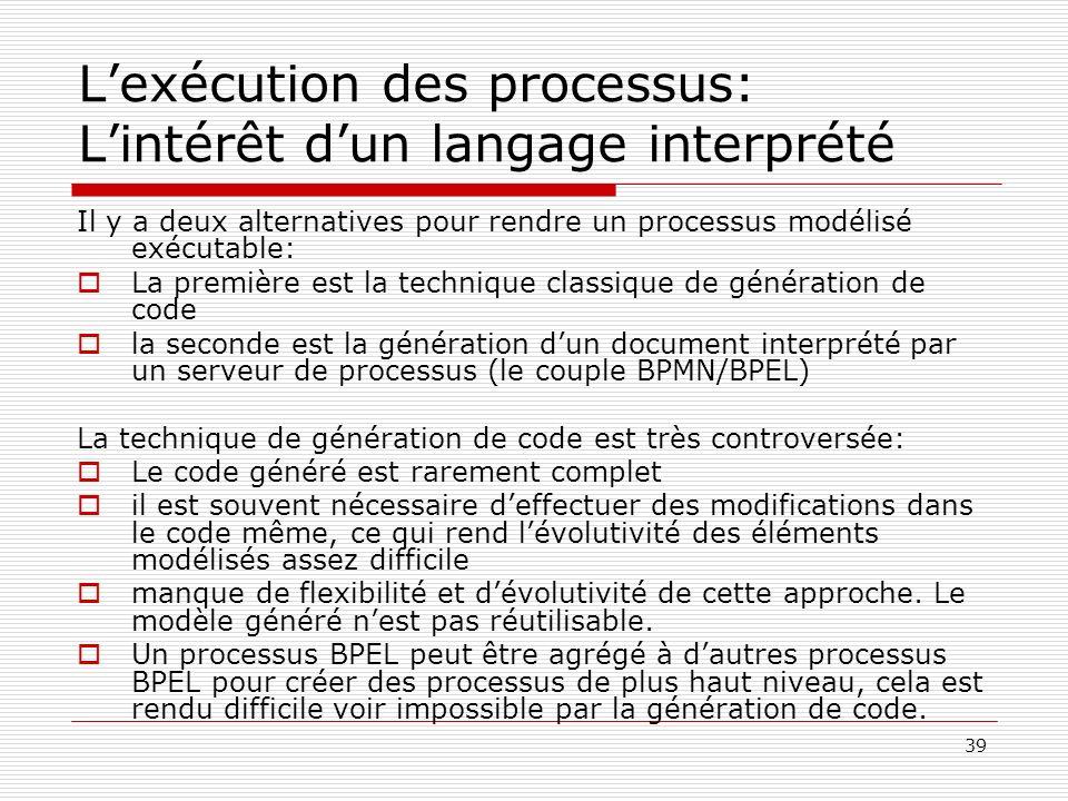 L'exécution des processus: L'intérêt d'un langage interprété