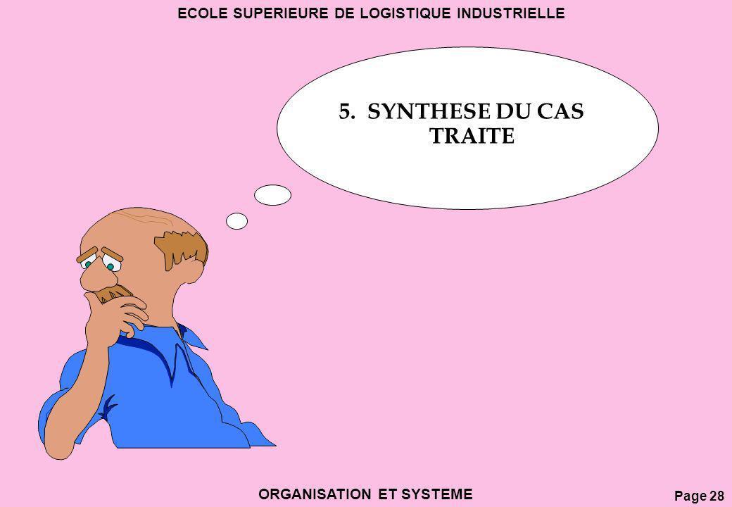 5. SYNTHESE DU CAS TRAITE