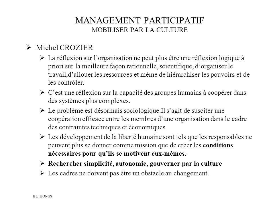 MANAGEMENT PARTICIPATIF MOBILISER PAR LA CULTURE