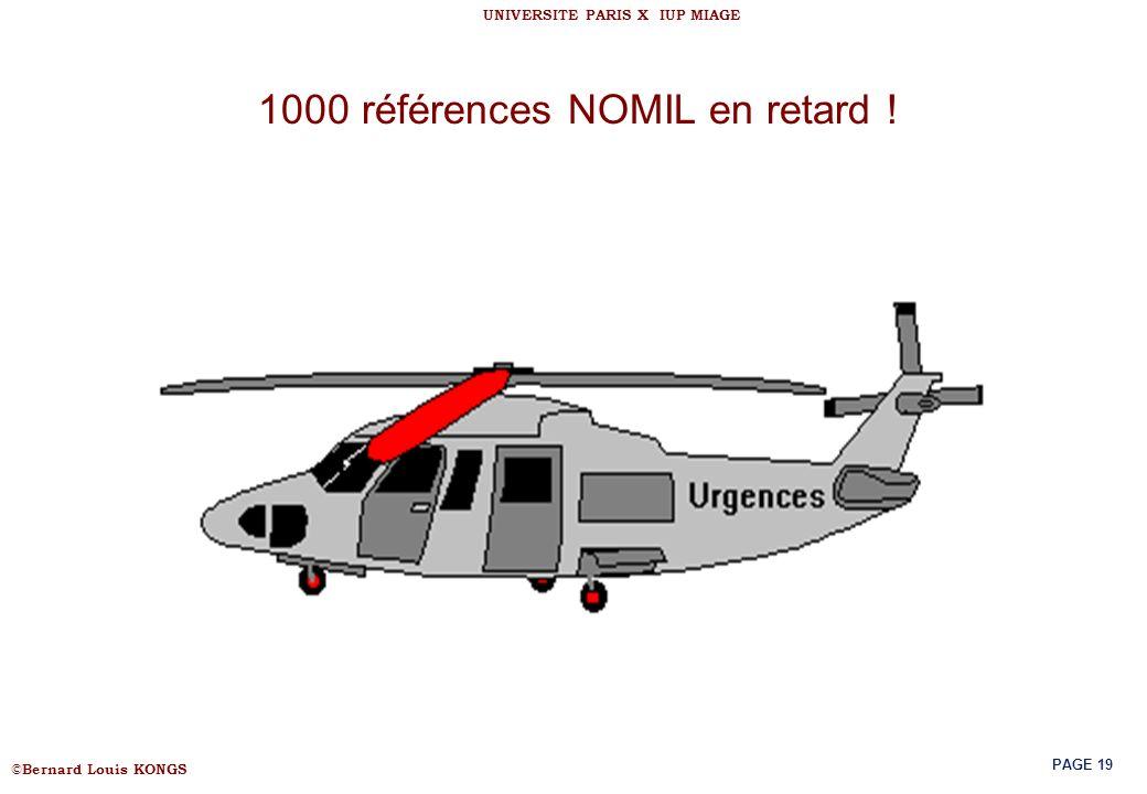 1000 références NOMIL en retard !