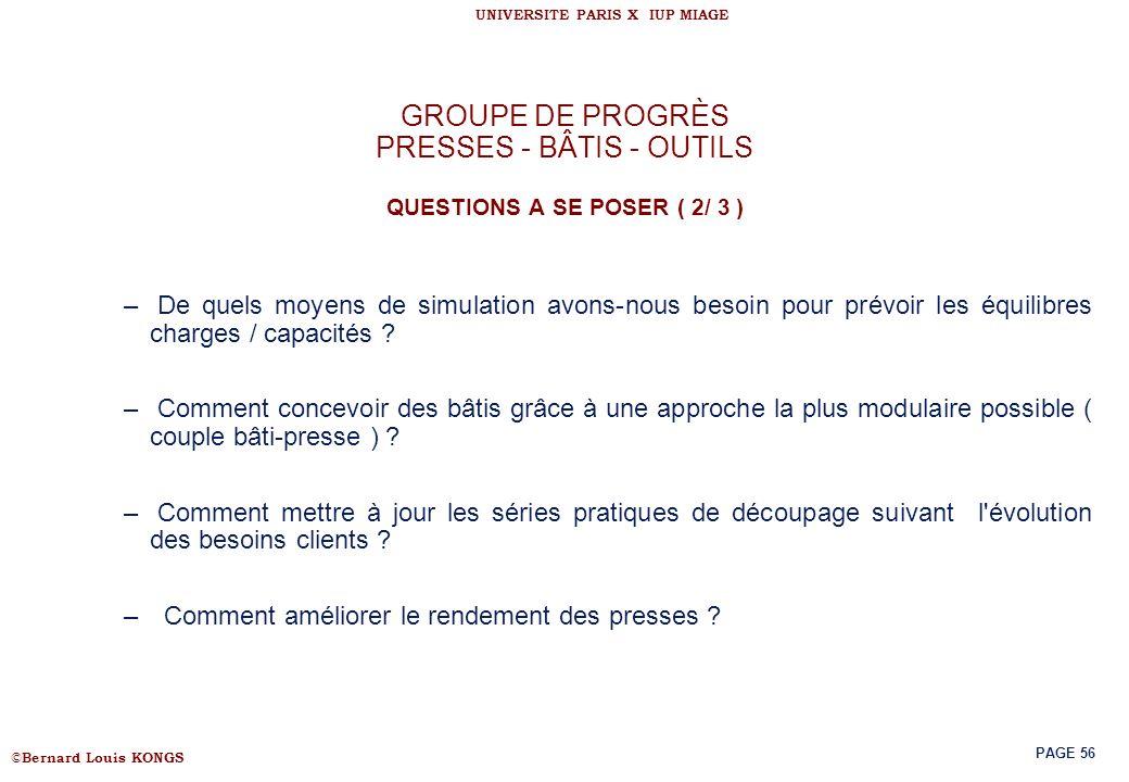 GROUPE DE PROGRÈS PRESSES - BÂTIS - OUTILS QUESTIONS A SE POSER ( 2/ 3 )