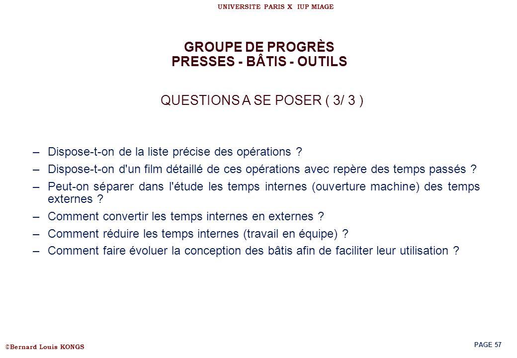 PRESSES - BÂTIS - OUTILS