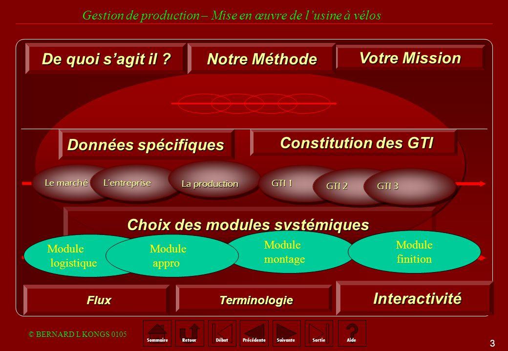 Choix des modules systémiques