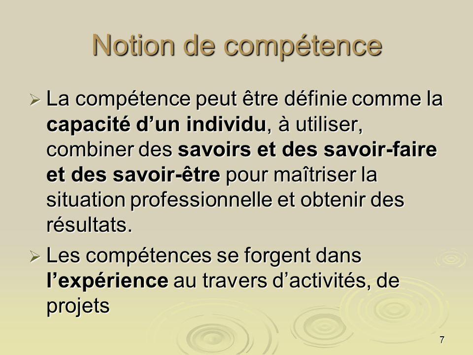 Notion de compétence