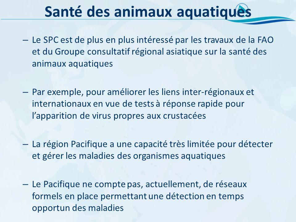 Santé des animaux aquatiques