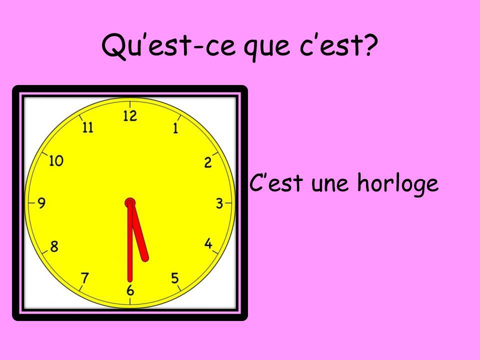 Qu'est-ce que c'est C'est une horloge