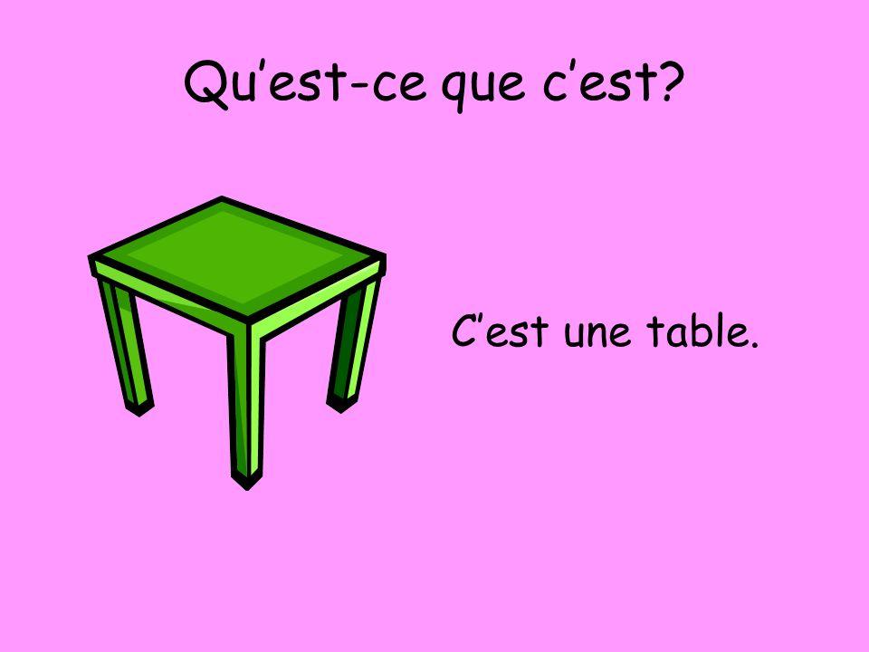 Qu'est-ce que c'est C'est une table.