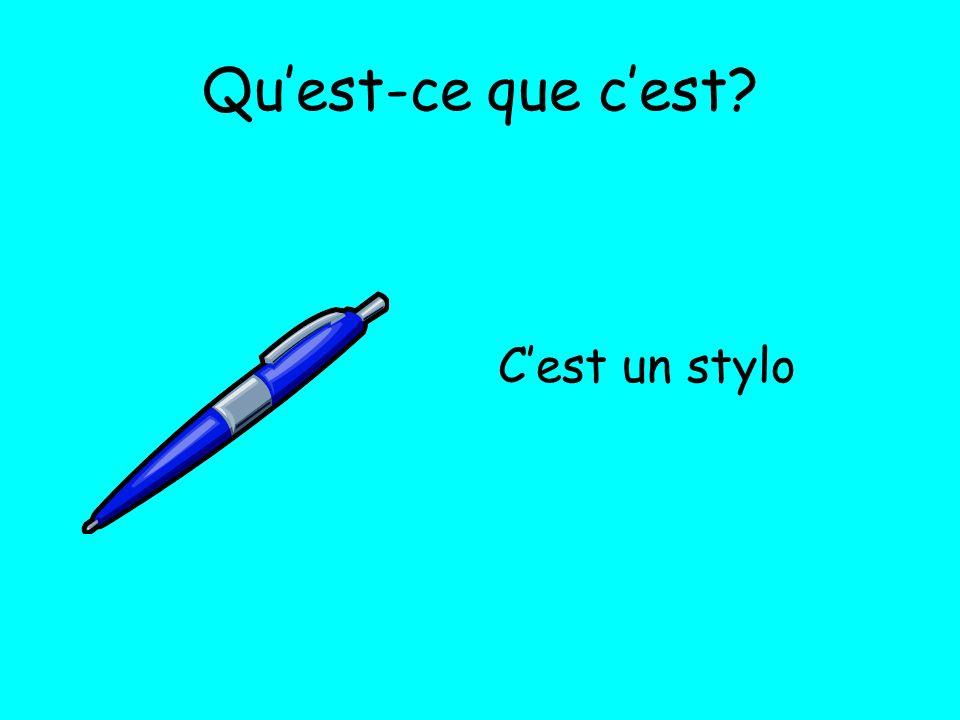Qu'est-ce que c'est C'est un stylo