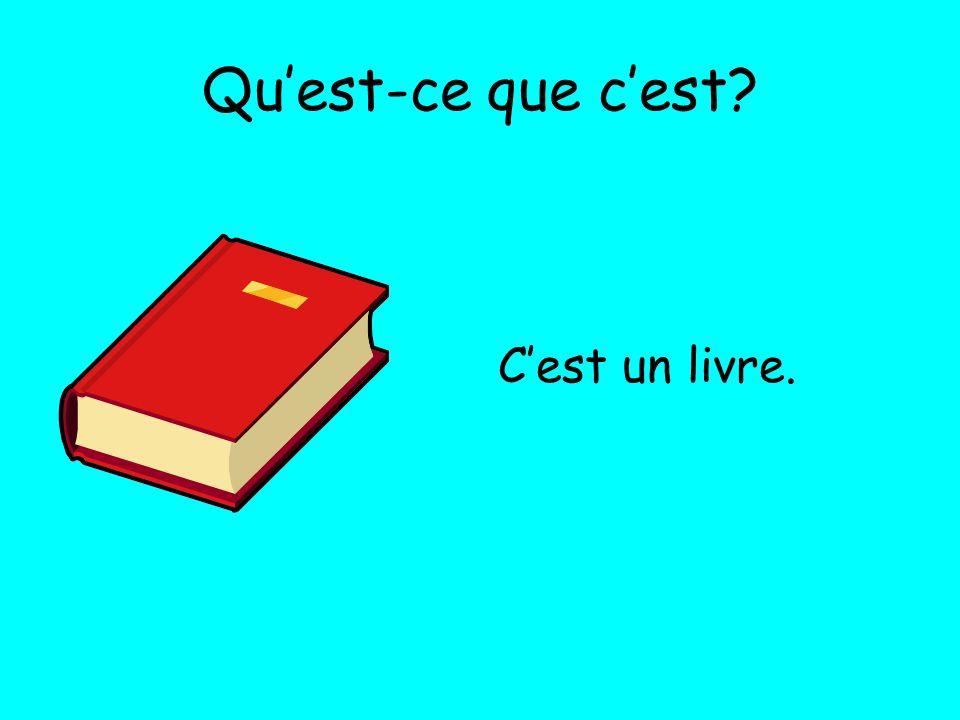 Qu'est-ce que c'est C'est un livre.