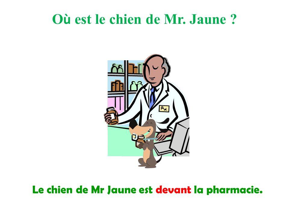 Où est le chien de Mr. Jaune