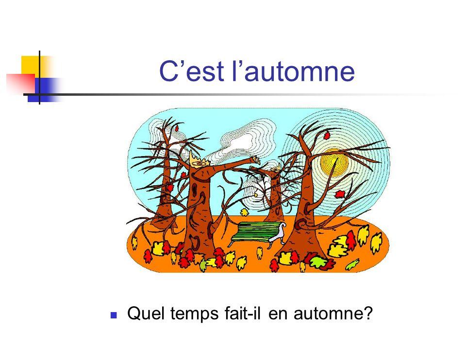 C'est l'automne Quel temps fait-il en automne