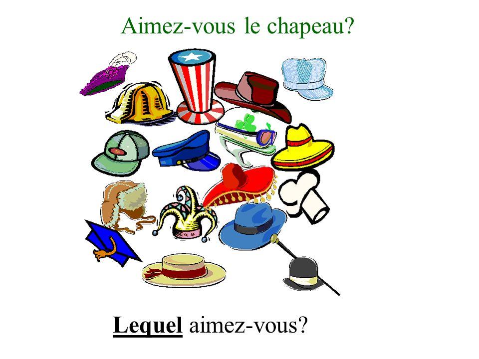 Aimez-vous le chapeau Lequel aimez-vous