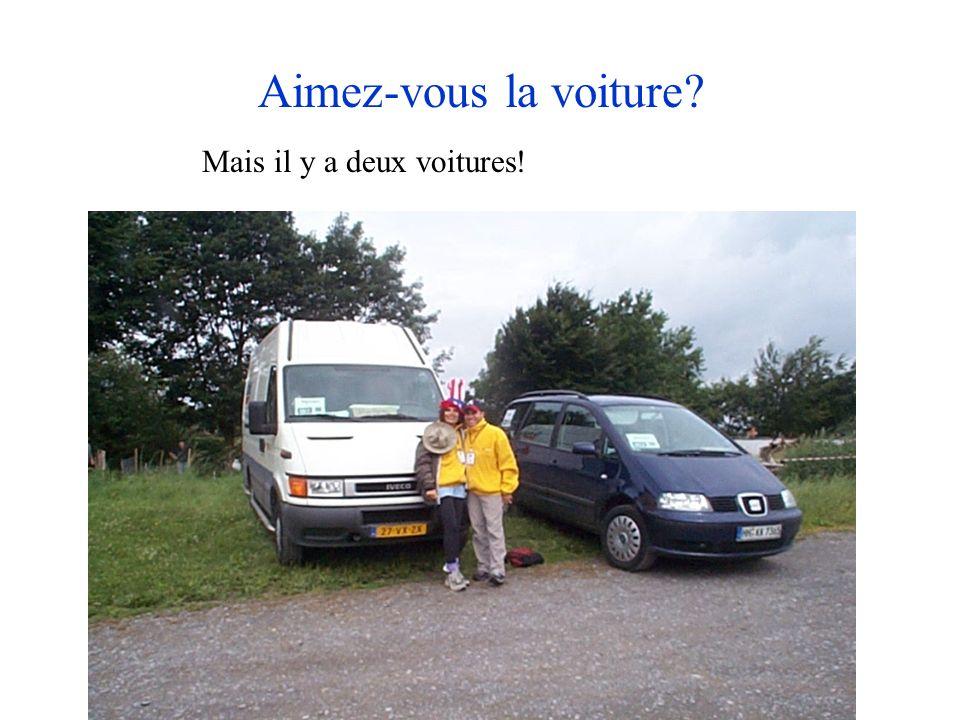 Aimez-vous la voiture Mais il y a deux voitures!