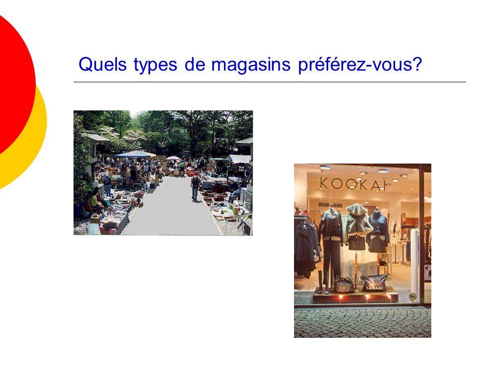 Quels types de magasins préférez-vous