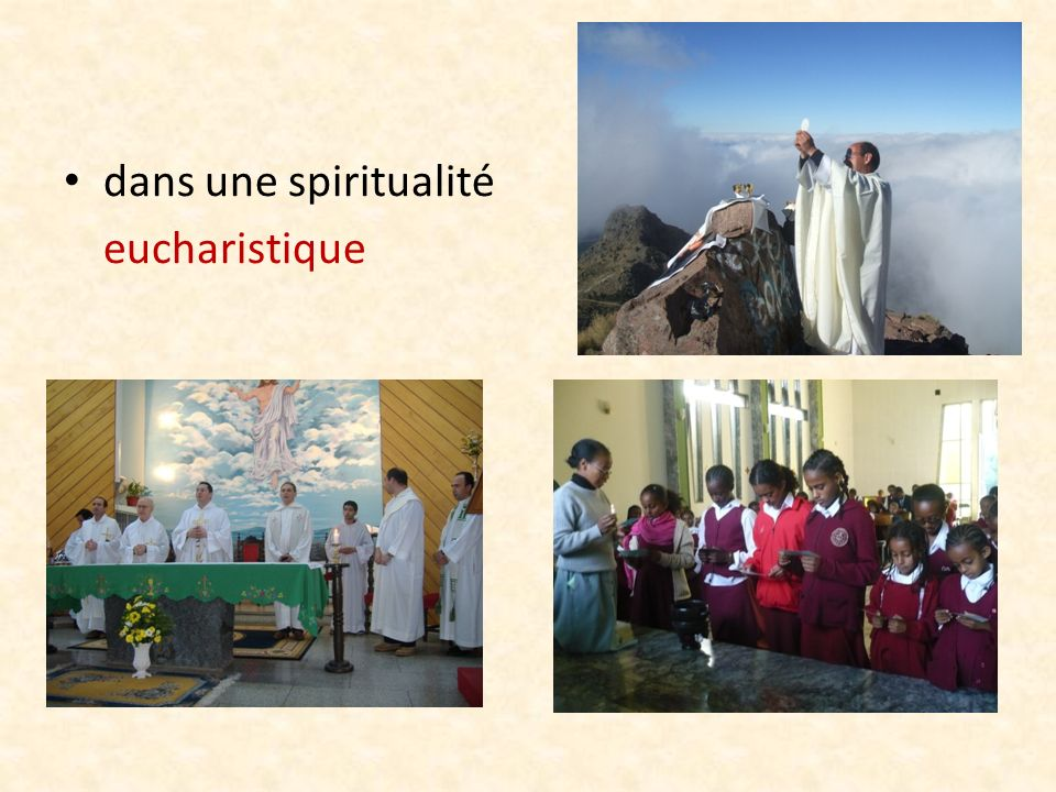 dans une spiritualité eucharistique