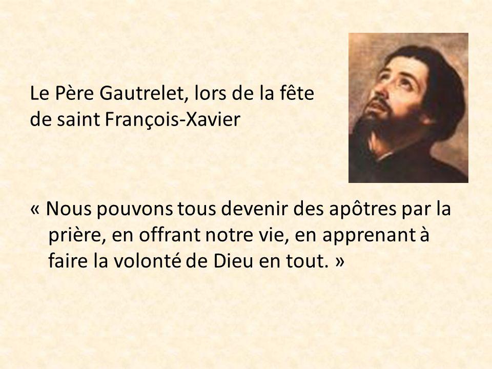 Le Père Gautrelet, lors de la fête de saint François-Xavier