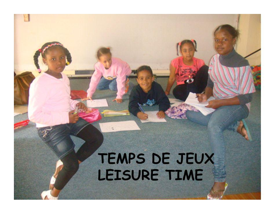 TEMPS DE JEUX LEISURE TIME