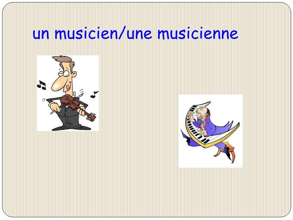 un musicien/une musicienne