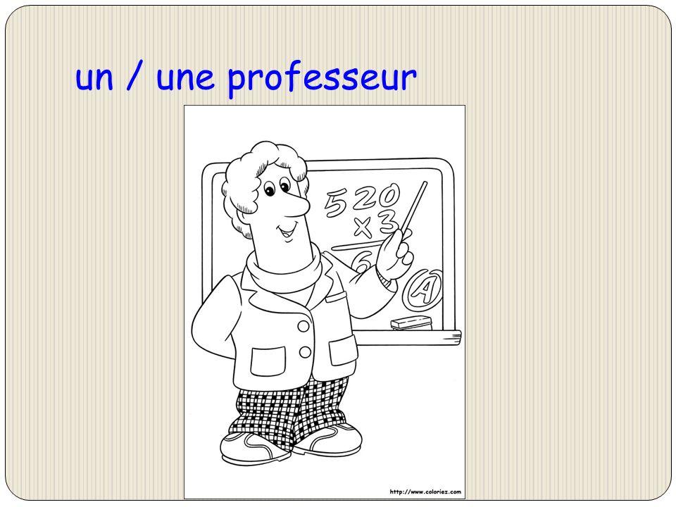 un / une professeur