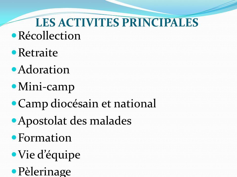 LES ACTIVITES PRINCIPALES