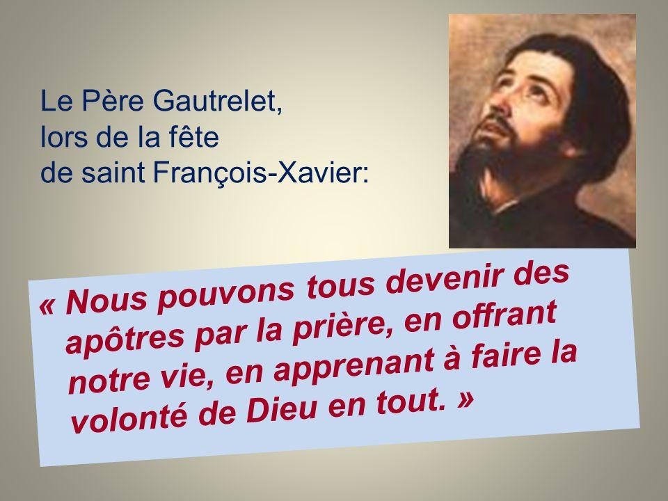 Le Père Gautrelet, lors de la fête de saint François-Xavier: