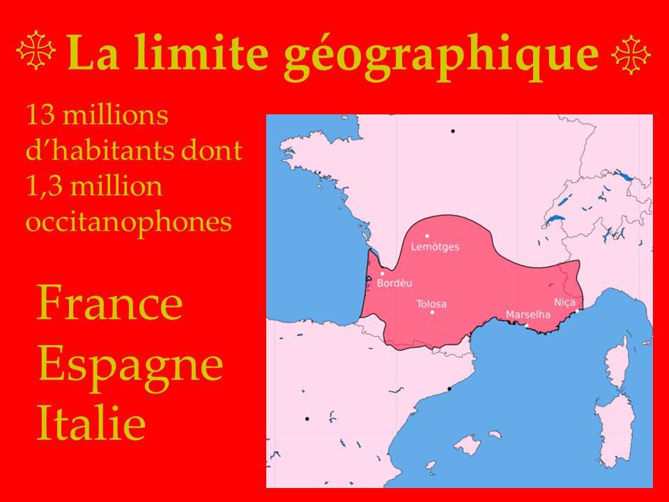 La limite géographique