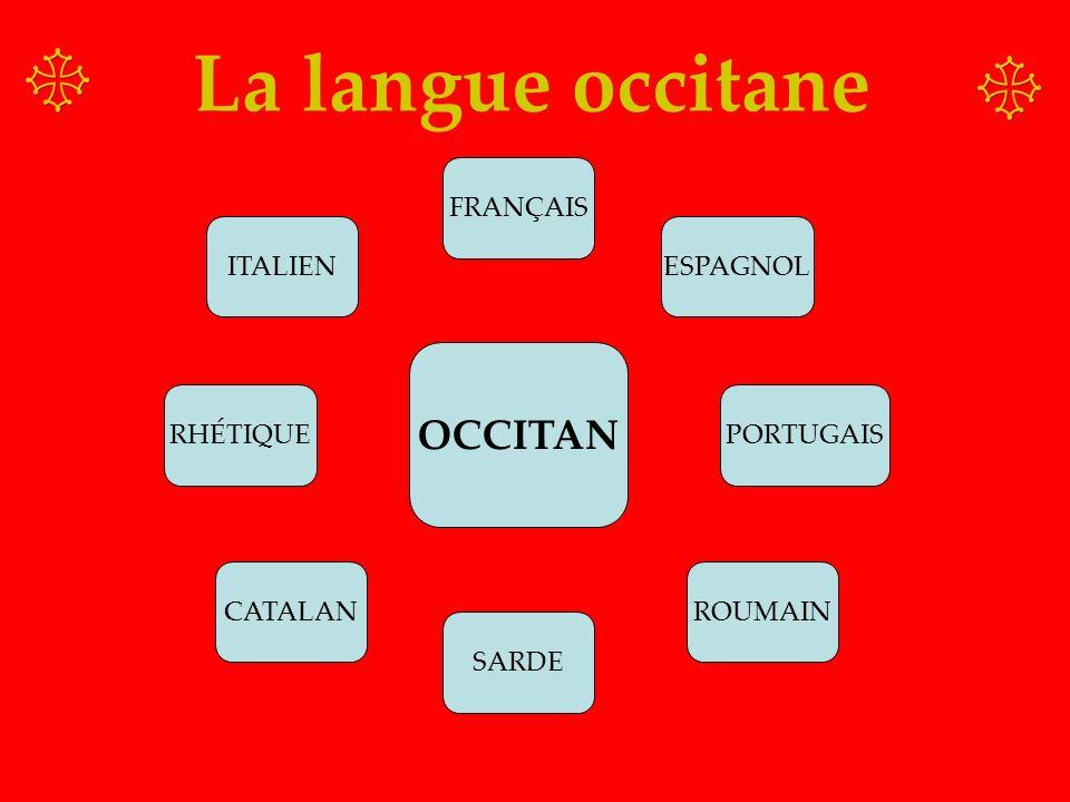 La langue occitane OCCITAN FRANÇAIS ITALIEN ESPAGNOL RHÉTIQUE