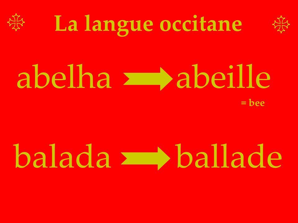 La langue occitane abelha abeille = bee balada ballade