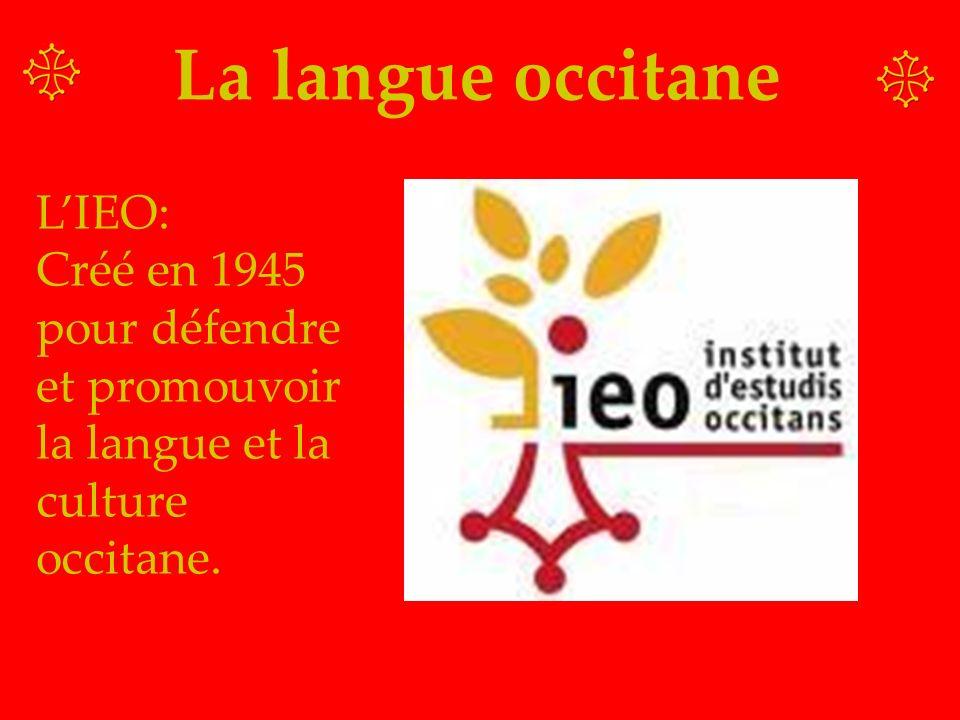 La langue occitane L'IEO: