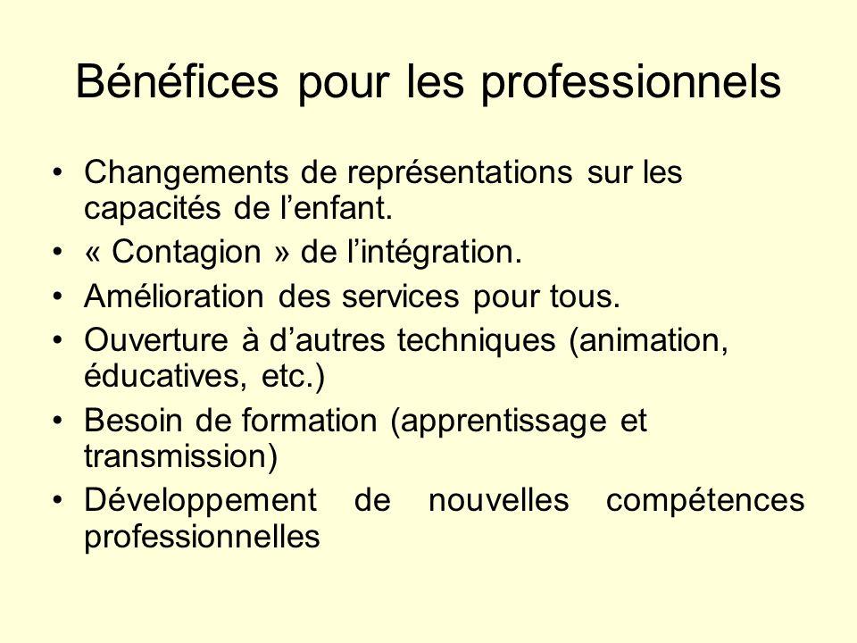 Bénéfices pour les professionnels