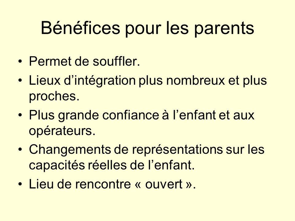 Bénéfices pour les parents