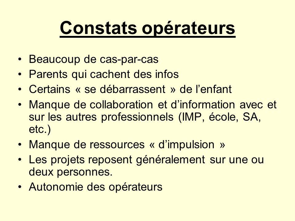 Constats opérateurs Beaucoup de cas-par-cas