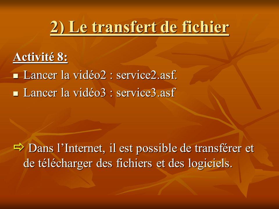 2) Le transfert de fichier