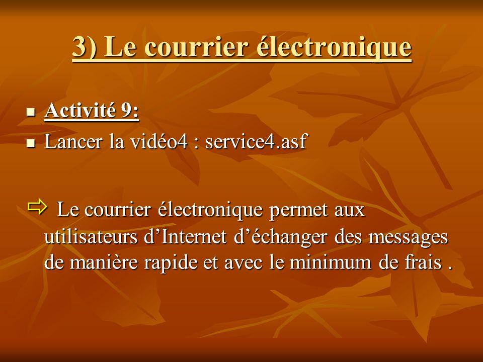 3) Le courrier électronique