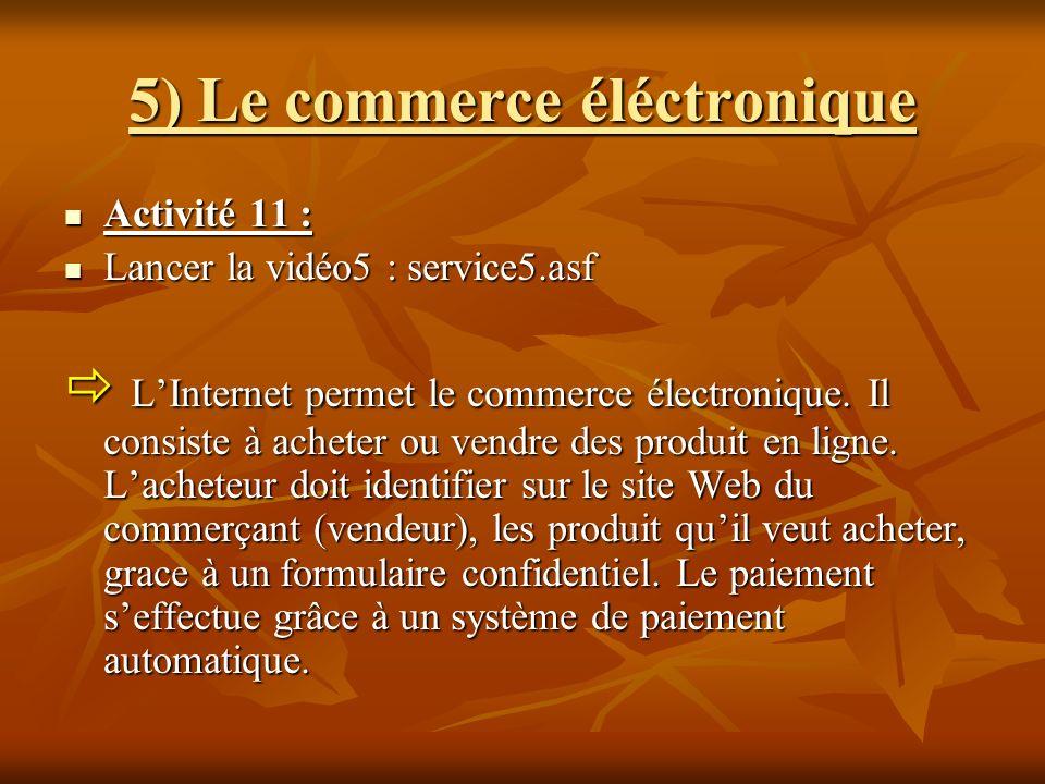 5) Le commerce éléctronique